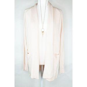 Ann Taylor LOFT Open Front Peach Cardigan Sweater